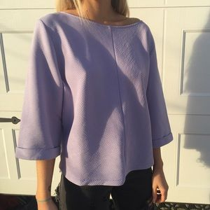 H&M Squared Lilac Top